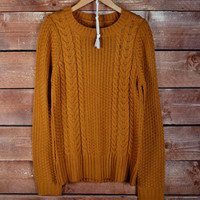 School Girl Sweater - Camel