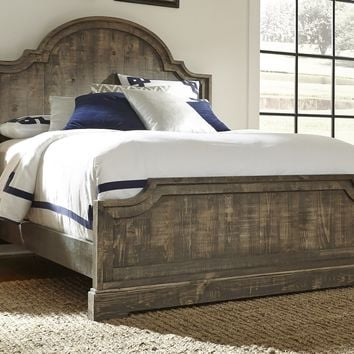 Meadow Casual Queen Panel Complete Bed Weathered Gray