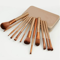 Professional Goat Hair Makeup Brushes with Case 13pcs