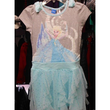 Disney Girl's Tutu Dress, Heather Grey, Size: L (10-12)