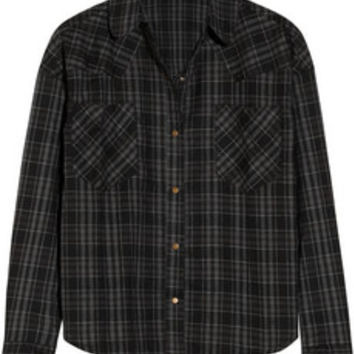 LNA Cropped plaid cotton-flannel shirt – 50% at THE OUTNET.COM