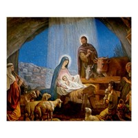 Nativity Scene Gifts for Christmas Poster
