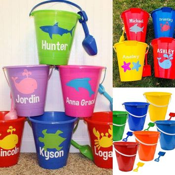PERSONALIZED SAND BUCKETS