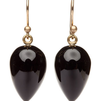 Ted Muehling Onyx Acorn Earrings