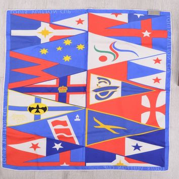 LOUIS VUITTON LIMITED EDITION AMERICA'S CUP 2000 MEMORIAL SILK SCARF 21x22