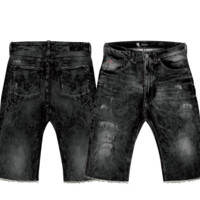 Staple Jean Shorts In Black Dark Stone