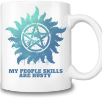 Supernatural Castiel People Skills Coffee Mug
