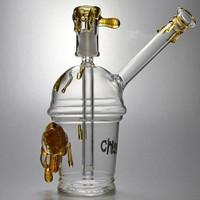 Two Types Cheech Glass bongs Cup with One pair of tortoise Oil Rig glass mini bong glass bongs