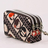 ONETOW Fashion Vintage Women Coin Purse Clutch Wristlet Wallet Bag Phone Key Case Makeup Bag Women credit card holder Tote
