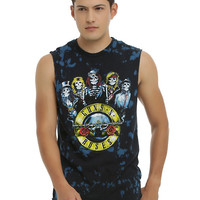 Guns N' Roses Classic Skeletons Tie Dye Muscle T-Shirt