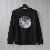 Moon Sweatshirt Sweater Shirt – Size XS S M L XL