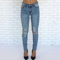 Luna Distressed Denim Skinny Pants