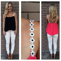 SIMPLE - Low Cut Backless Summer Sexy Women Tank Top a11043