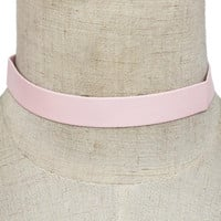 "12.50"" faux leather choker collar Necklace .60"" width"