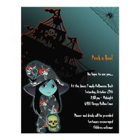 Lil' Witch in Pirate Skull Robe Halloween