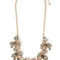 Mixed Rhinestone Statement Necklace