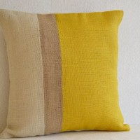 Yellow Throw Pillows Color Block -20 By 20 Outdoor Pillow - Decorative Cushion Cover- Spring Throw Pillow- Gift Pillow 20x20- Handmade