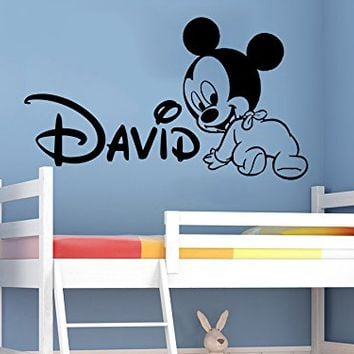 Wall Decals Personalized Name Mickey Mouse Vinyl Sticker Decal Custom Name Girls Boys  sc 1 st  wanelo.co : mickey mouse vinyl wall decal - www.pureclipart.com