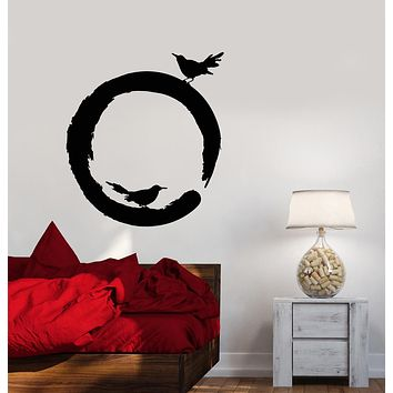 Vinyl Wall Decal Circle Enso Buddhism Yoga Center Meditation Room Stickers (3186ig)