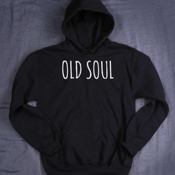 Old Soul Slogan Hoodie Hippie Boho Yoga Hippy Tumblr Sweatshirt Jumper