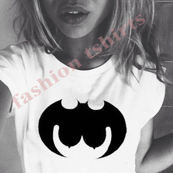 Batman shirt, batgirl shirt,boob shirt,boobs Tshirt, batman T Shirt ,Screen Printing shirts,Women's Shirts,Tshirt, narrow model,Size S, M, L