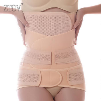 ZTOV 3Pieces/Set Maternity Postnatal Belt After Pregnancy bandage Belly Band waist corset Pregnant Women Slim Shapers underwear