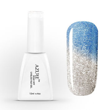 New Style Azure Soak Off Chameleon Color Changing  UV Nail Gel Polish Color Gel Manicure Nail Art Gel [Color No.T46] (Size: 12 ml) = 5658866689