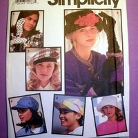 Sets of Hats & Gloves Simplicity 7932 Sewing Pattern Uncut