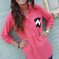Hot Mess Tunic - Coral   The Rage