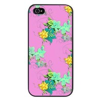 Green Yellow Flowers on Pink iPhone 5 Case> iPhone 5 Cases> Graphic Allusions