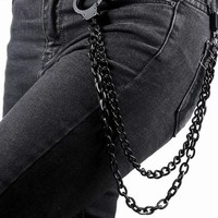 Stainless Steel Handcuff Wallet Chain