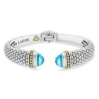 LAGOS 18K Gold and Sterling Silver Caviar Color Blue Topaz Cuff Bracelets | Bloomingdales's