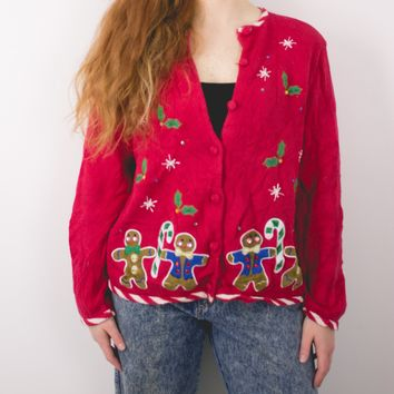 Vintage Gingerbread Ugly Christmas Sweater
