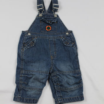 Gap Denim Lined Overalls , size 6-12 mo