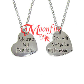 GREY'S ANATOMY You Are My Person You Will Always Be My Person Couple Necklace