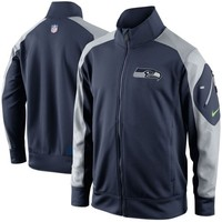 Nike Seattle Seahawks Fly Speed Full Zip Performance Jacket - College Navy