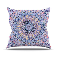 "Iris Lehnhardt ""Summer Lace II"" Circle Purple Throw Pillow"