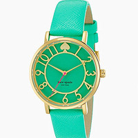 kate spade new york Metro Cutout Leather Watch - Green