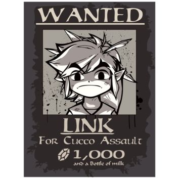"""Link Wanted! 18"""" x 24"""" Paper Poster"""