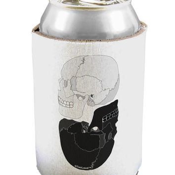 White And Black Inverted Skulls Can / Bottle Insulator Coolers by TooLoud