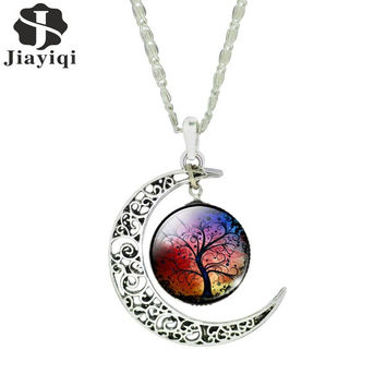 Women Fashion  Vintage Sterling Moon Pendant Necklace (Size: M, Color: Multicolor) = 1838979780