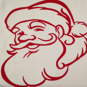 Santa Claus (Iron-on, Wall Vinyl, or Window Cling)
