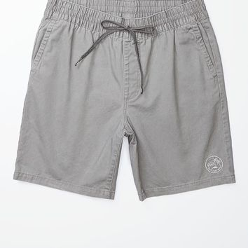 Vans Lake Ocean Gray E-Waist Shorts - Mens Shorts - Gray