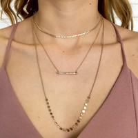 Top Notch Layered Necklace in Gold