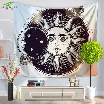 Colorful Tapestry Psychedelic Celestial Indian Sun Tapestry Wall Hanging Throw Bohemian Door Curtain 130x150/150x200cm