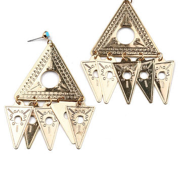 Pyramid Chimes Earrings