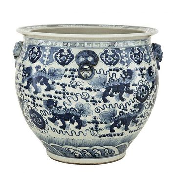 CERAMIC CHINESE VASE | EICHHOLTZ FISHBOWL