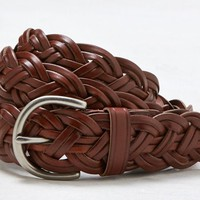 AEO Women's Braided Leather Belt (Tan)