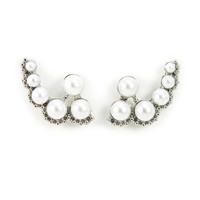 Climbing Pearl Earrings
