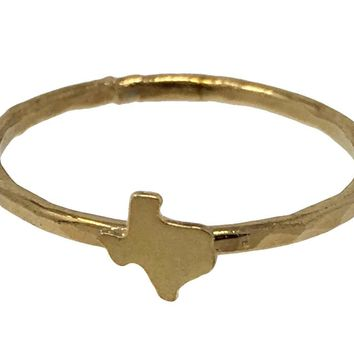 Kris Nations State Pride Collection Stacking Texas Gold Ring